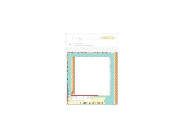 Wanderlust Stitched Cardstock Frames 6/Pkg-