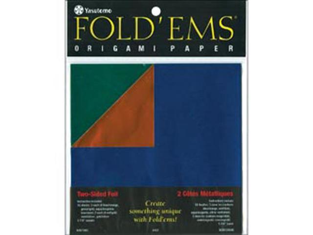 Fold 'ems Origami Double-Sided Foil Paper 5.875
