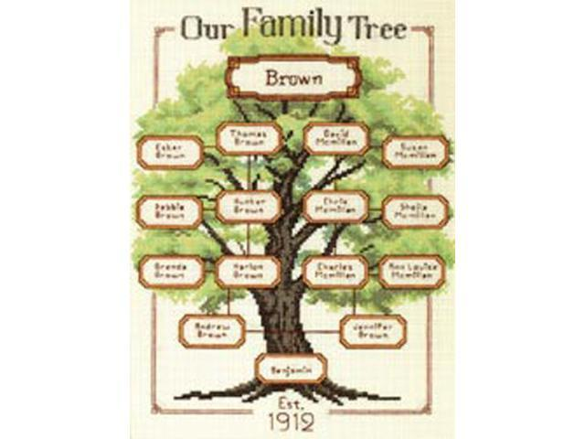 Our Family-Family Tree Counted Cross Stitch Kit-9