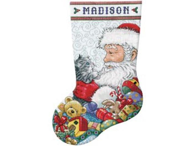 Santa & Kitten Stocking Counted Cross Stitch Kit-17