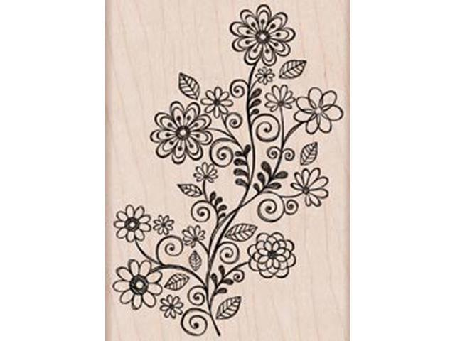Hero Arts Mounted Stamp-Flower Swirl Vine