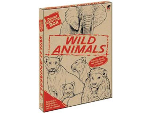 Dover Coloring Box Kit-Wild Animals