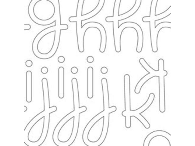 Candy Shoppe Cardstock Alphabet Stickers 6