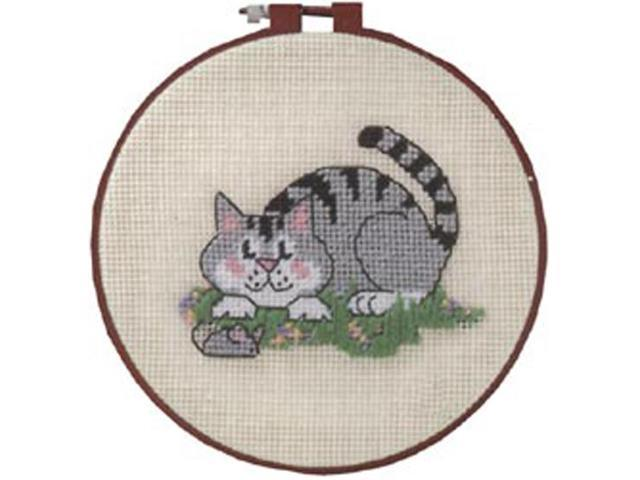 Learn-A-Craft A Cat And A Mouse Needlepoint Kit-6