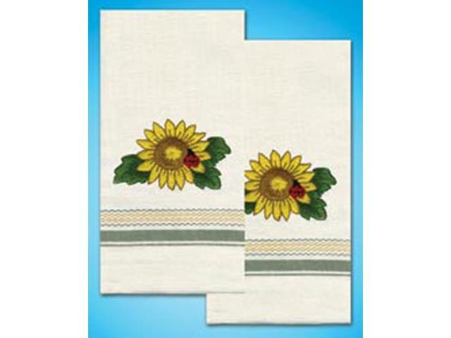 Stamped Kitchen Towels For Embroidery-Sunflower