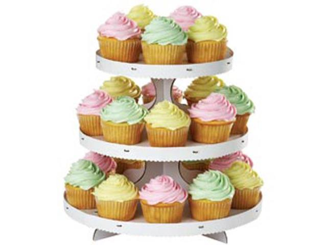 3 Tier Cupcake Stand-White