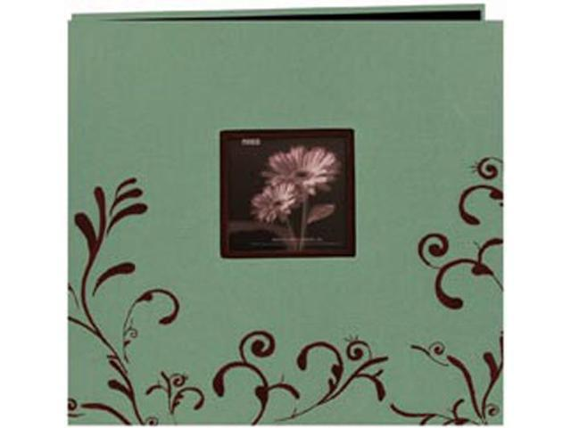 Scroll Embroidery Fabric Postbound Album With Window 12