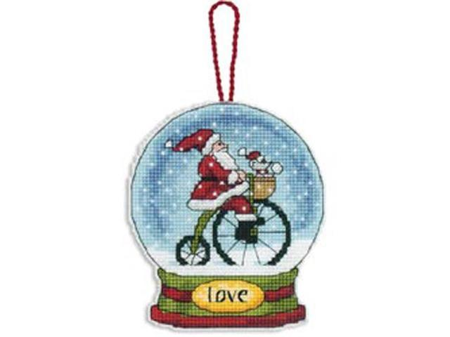 Love Snowglobe Counted Cross Stitch Kit-3-3/4