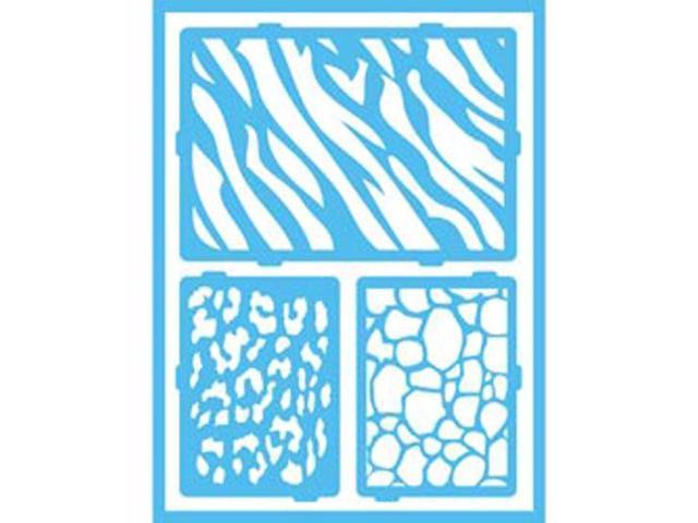 Gloss Enamels Stencils-Safari