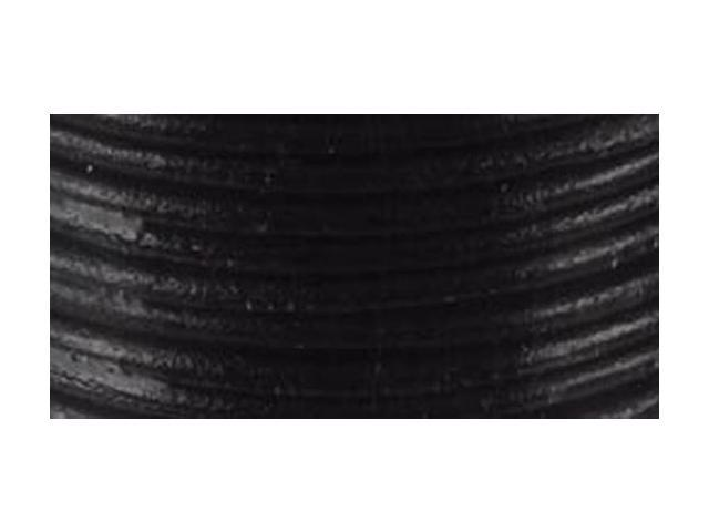 Round Leather Lace 2mmX25yd Spool-Black