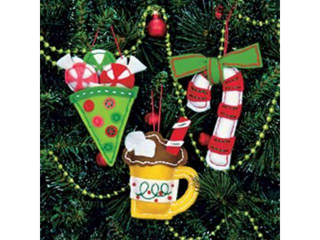 Sweet Treats Ornaments Felt Applique Kit-3