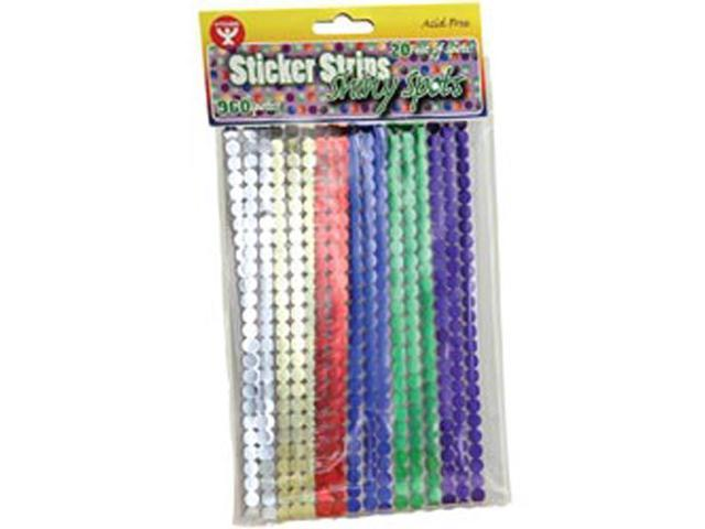 Sticker Strip Spots 960/Pkg-Metallic Assorted Colors