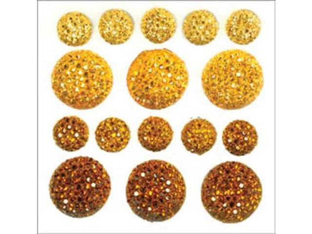 Sparklets Self-Adhesive Rhinestone Clusters-Daffodil