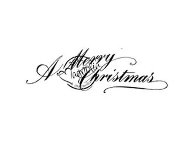 A Christmas Story Cling Stamp-A Merry Christmas