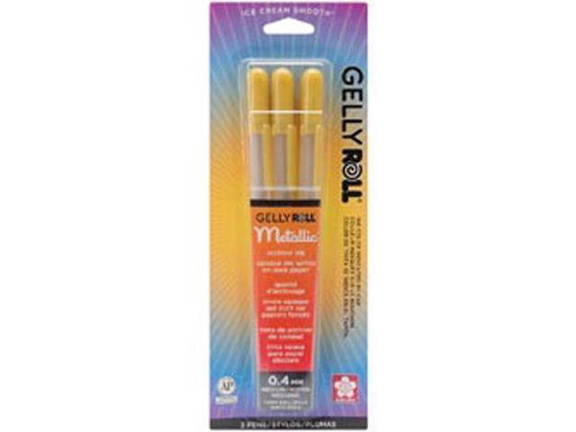 Gelly Roll Metallic Medium Point Pens 3/Pkg-Gold