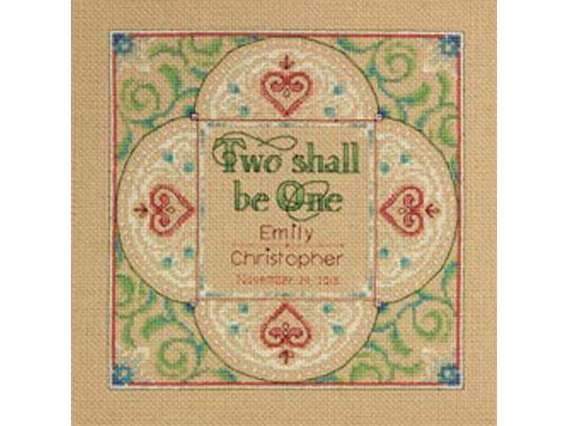 Two As One Wedding Record Counted Cross Stitch Kit-10