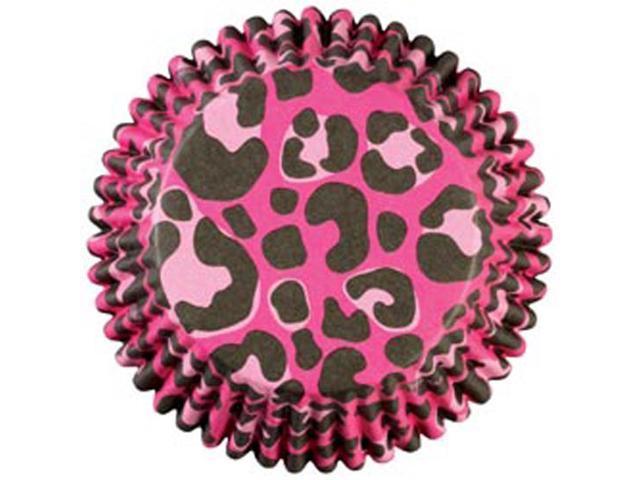 Standard Baking Cups 36/Pkg-Pink Leopard