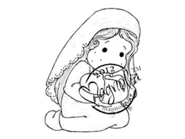 Nativity Cling Stamp-Loving Holy Tilda