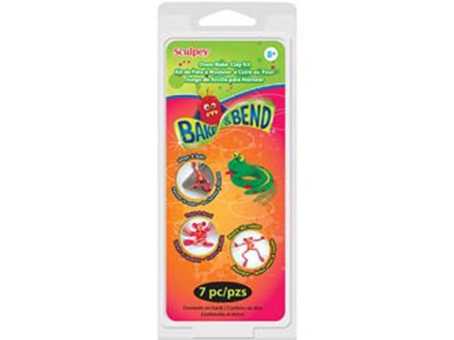 Sculpey Kit 1 Ounce 6/Pkg-Bake & Bend