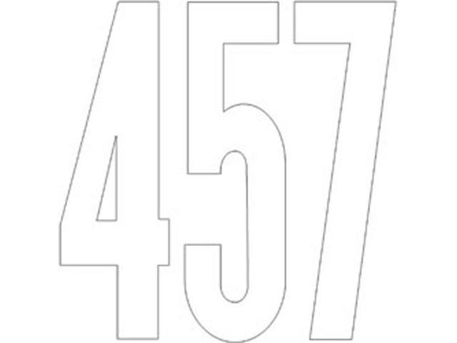 Permanent Adhesive Vinyl Numbers 6