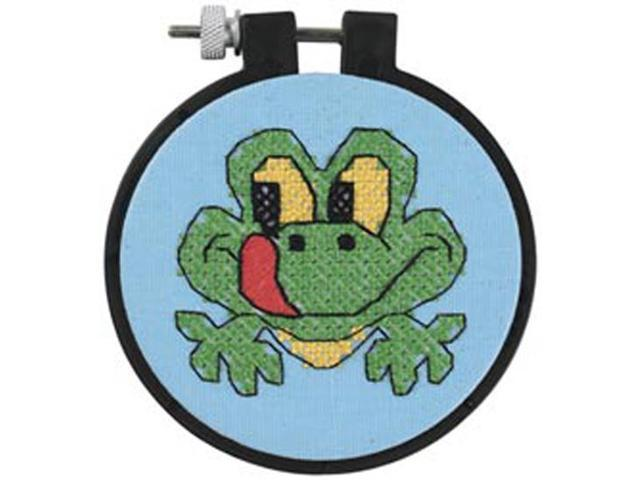 Learn-A-Craft Friendly Frog Stamped Cross Stitch Kit-3