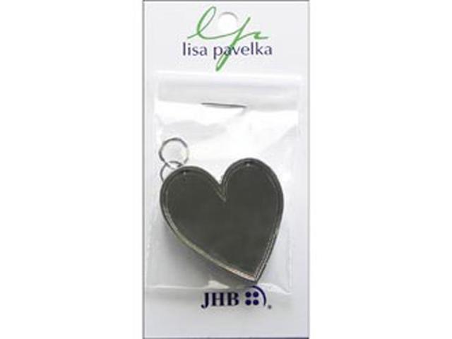 Lisa Pavelka Silver Plated Bezel 1/Pkg-Leaning Heart