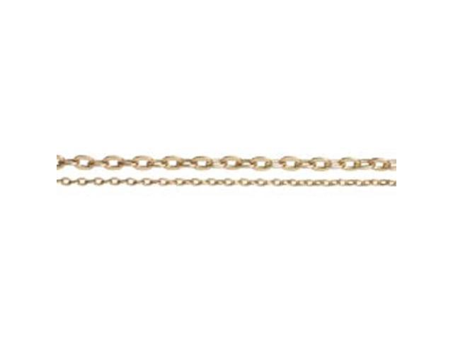 Jewelry Basics Metal Chain 1/Pkg-Antique Gold Small Oval 100