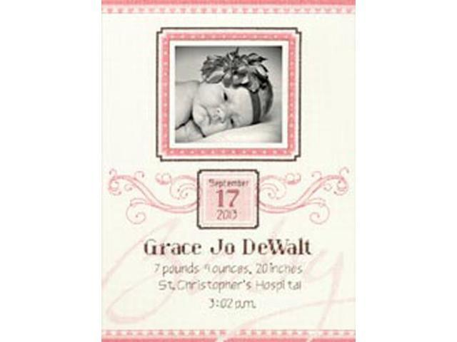 Elegant Flourish Birth Record Counted Cross Stitch Kit-9
