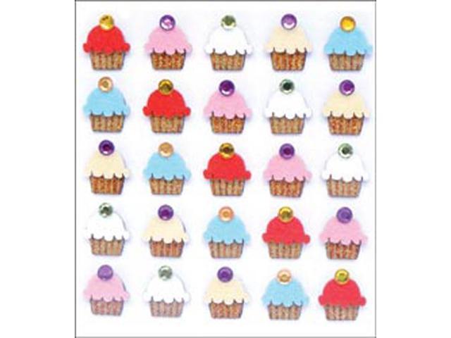 Jolee's Mini Repeats Stickers-Cupcakes