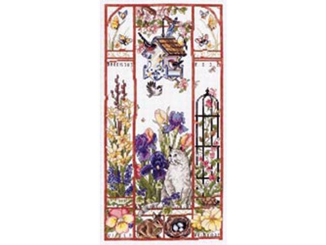 Spring Cat Sampler Counted Cross Stitch Kit-8