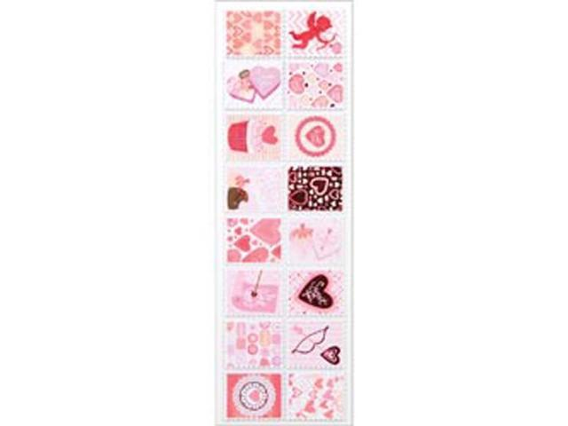 Martha Stewart Valentine Stickers-Stamp