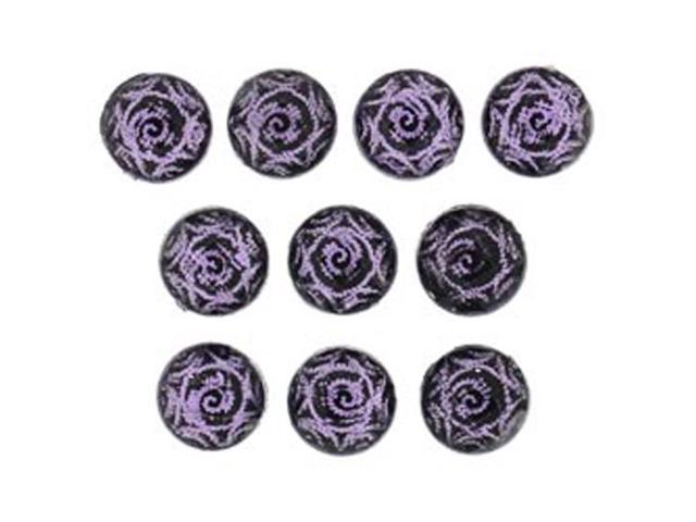 Dress It Up Flats Embellishments-Purple Swirl
