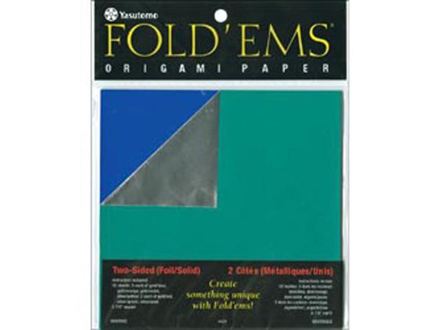 Fold 'ems Origami Double-Sided Foil/Solid Paper 5.875