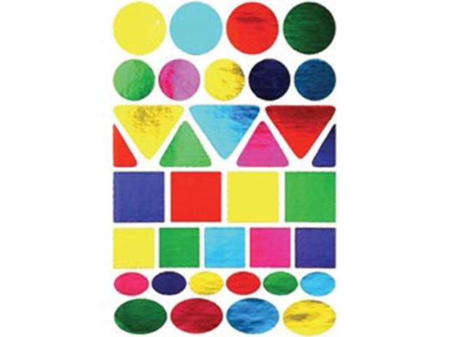Sticker Forms Self Adhesive Stickers-Foil Geometric Shapes 70/Pkg