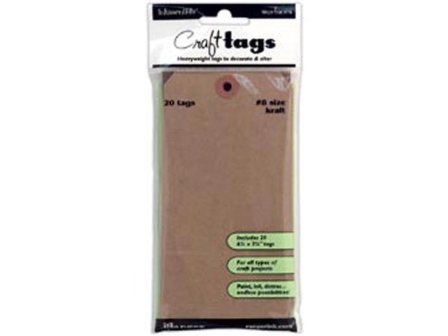 Inkssentials Brown Kraft Surfaces 20/Pkg-Tag #8 6.25