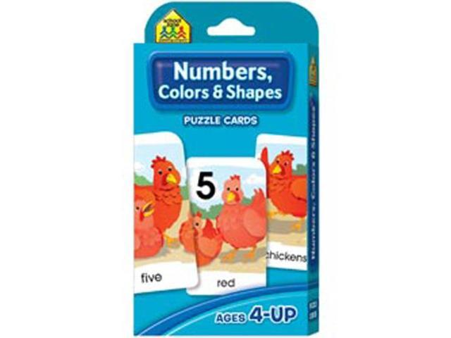 Game Cards-Numbers; colors & Shapes
