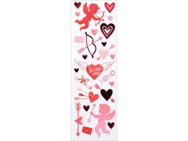Martha Stewart Valentine Stickers-Cupid