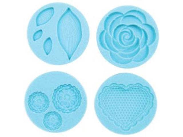 Martha Stewart Crafter's Clay Silicon Molds 4/Pkg-Romantic