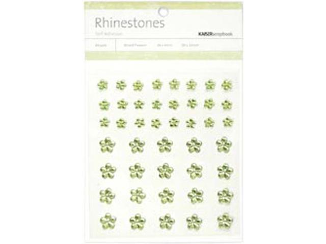 Self-Adhesive Flower Rhinestones 44/Pkg-Mint