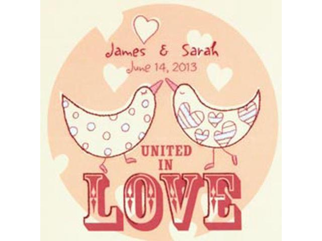 Love Birds Wedding Record Crewel Embroidery Kit-10