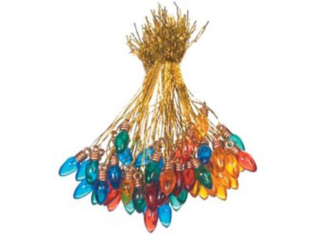 Plastic Christmas Bulbs 8mm 50/Pkg-Multicolor