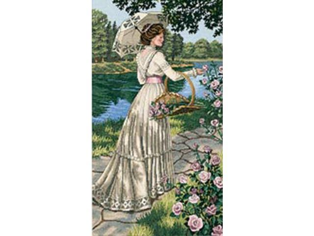 Gold Collection A Summer Stroll Counted Cross Stitch Kit-10