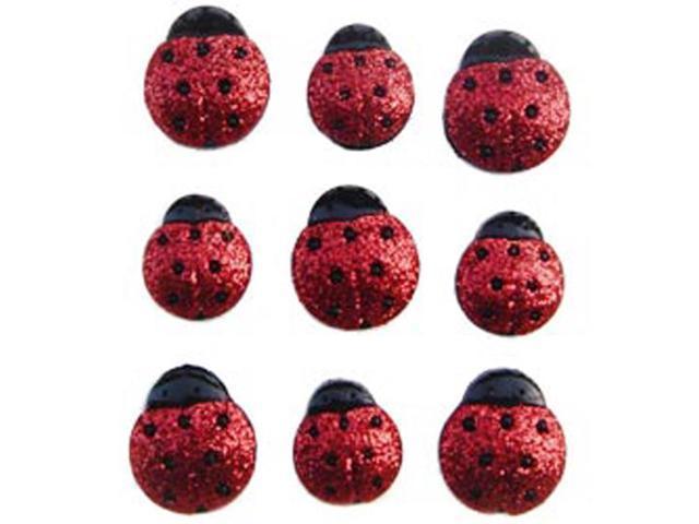 Dress It Up Embellishments-Glitter Ladybugs