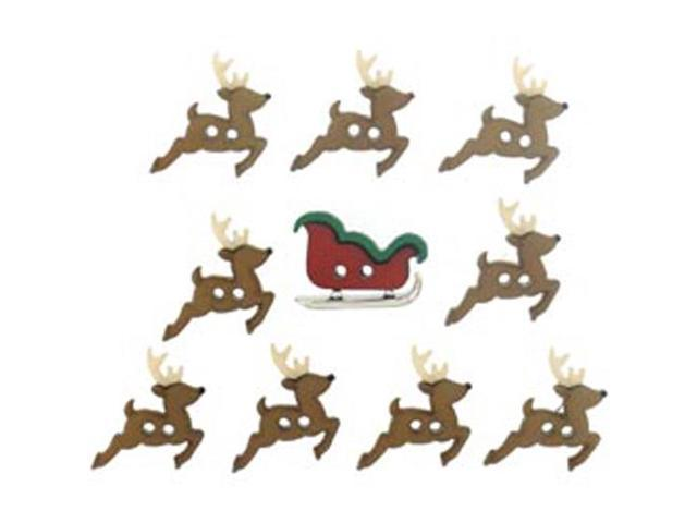 Dress It Up Holiday Embellishments-Sew Cute Sleigh And Reindeer