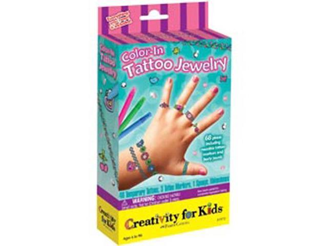Creativity For Kids Activity Kits-Color-In Tattoo Jewelry