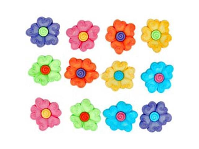 Dress It Up Embellishments-Swirl Center Flower
