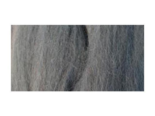 Natural Wool Roving 0.3 Ounce-Ash
