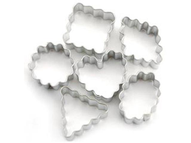 Mini Metal Cookie Cutters 6/Pkg-Geometic Crinkle