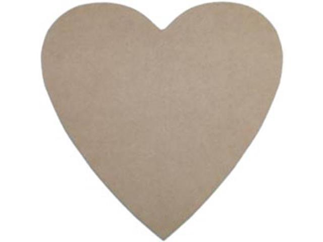 Unfinished MDF Plaque 1/Pkg-Heart 10