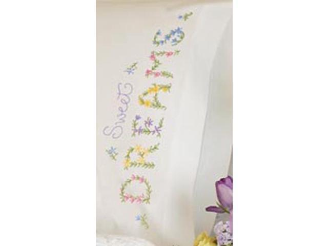 Dreams Pillowcase Pair Stamped Embroidery-20